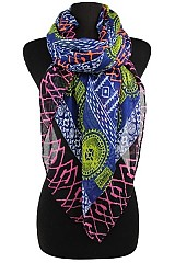Pinwheel Pattern Colorful Scarves & Wraps