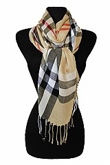 Luxury Plaid Print Softness Scarves
