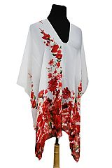 Blossom Floral Pattern Silky Soft And Fresh Poncho Cover Up