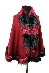 Sweaters Wraps Cardigans faux fur winter fashion shawl large yards