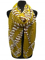 Plaid Zebra Design Scarves