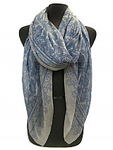 Flower Waves Pattern Woven Scarves