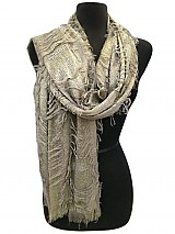 Metallic Vintage Scarves
