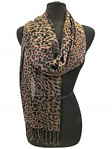 Leopard and Tiger Print Scarves