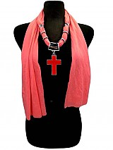 Jersey Soft Cross Jewell Scarves