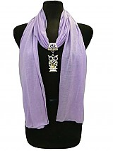 Owl Charm on Jersey Soft Scarves