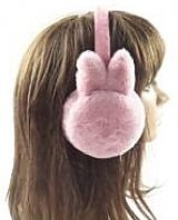 Solid Color Bunny Eared Faux Fur Ear Muffs