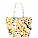 Icon Llama And Cactus Printed Tote Bags with Signature Coin Pouch