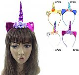 Glossy Unicorn Horn Floral Detailed Fantasy Headbands