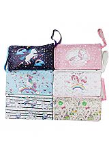 Mini silver Glittery Star Decor Unicorn Pouch Clutch Wallet
