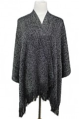 Thick Shimmer Tinseled  Accented Poncho