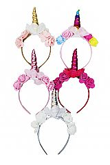 Shimmery Unicorn Horn Rose Decor Head Bands