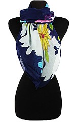 Floral Design Soft Scarves