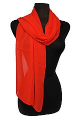 Solid Colored Chiffon Semi Sheer Scarves