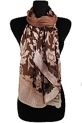 Floral Block Pattern Soft Scarves