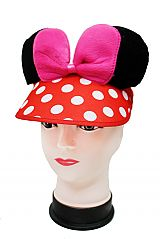 Novelty Famous Cartoon Ears On Visor Summer Hat