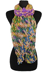 Color Full Scarves With Floral Pattern