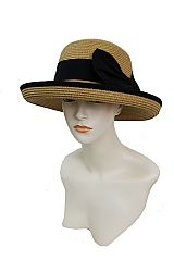 Fashion Bucket Style Up and Down Brim Design with Big Bow Sun Hat