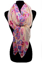 Designer Hologram Pattern Scarves