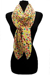Color Full Skull Dot Design On Soft Scarves