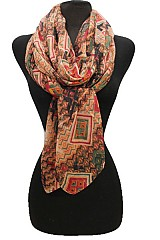 Multi color Tribal Pattern scarf