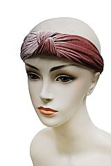 Solid Colored Velvet Turban Front Headband