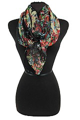 Colorful Floral Soft Scarf