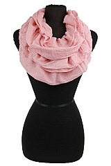Ruffly Soft Cotton Infinity scarf