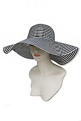 Stripe And Stripe Fashion Floppy Women Sun Hat