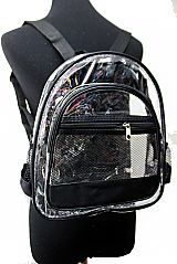 Clear and Soft PVC with Mesh Pocket Design Backpack