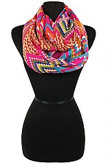 Sher Soft And Silky Fractal Pattern Infinity Scarves