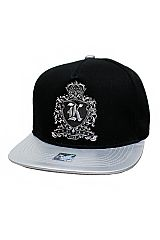Royal King and Queen Designed Titanium Felt Metal Patched Snap Back Hat