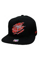 Spider Embroider Patched Snap Back Hat