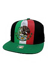 Mexican Flag Printed Snap Back Hat