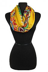 Geometric and Aztec Pattern Softness Colorful Infinity Scarf