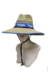 Los Angeles Blue Ribbon Outdoor Straw Hat