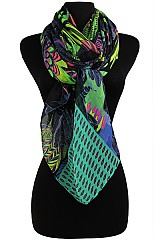 Neon Parrot Pattern Soft Wrap Scarves
