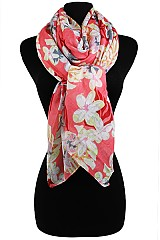 Hawaiian Flower Pattern soft wrap & Scarves