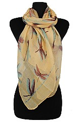 Dragonfly design softness Scarf