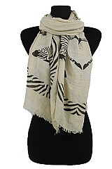Twin Zebra Design Soft Color Scarf
