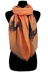 Anchor Print Super Soft Gauze Scarves & Wraps