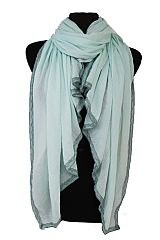 Round Lace Accent Super Softness Over Size Scarves