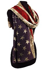 Patriotic Flag Vintage Design Scarves & Wrap