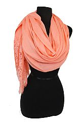 Daisy Lace Bottom accent Design Super Softness Over Size Scarves