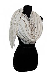 Wave Cutting Wide Flower Lace Round Design Super Softness Scarves