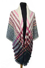 Large Over Sized Brushed Extra Soft Printed Blanket Scarf and Shawls
