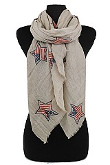 American flag Design Super softness Cotton Feel scarf