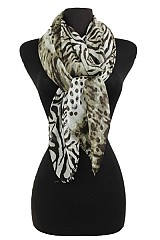 Polka dot and Animal pattern super softness Scarf