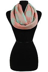 Color full Swirls Pattern Infinity Scarves