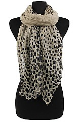 Clover Pattern softness Scrunchy Scarf and wraps